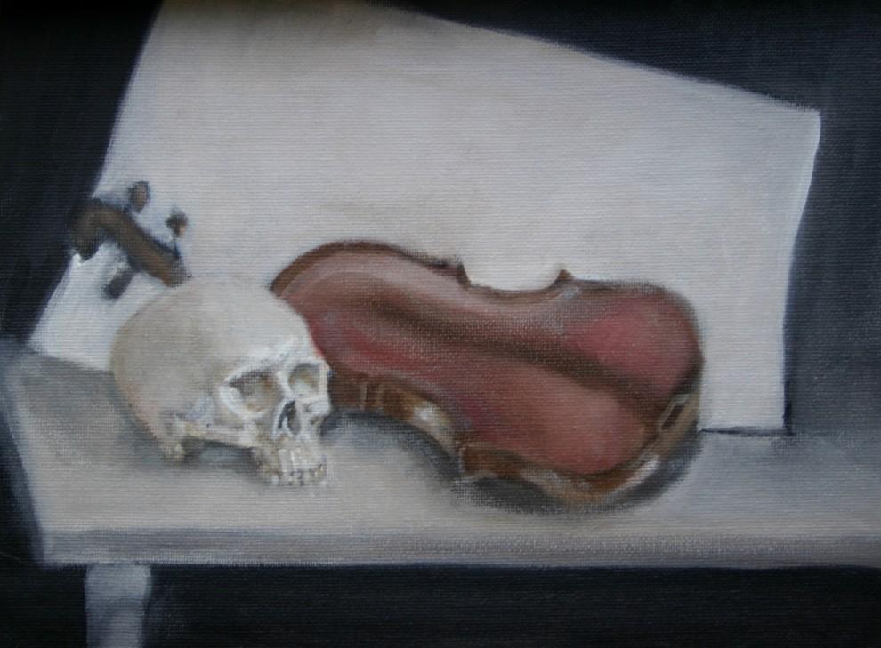 Vanitas with Violin (Study), 2005