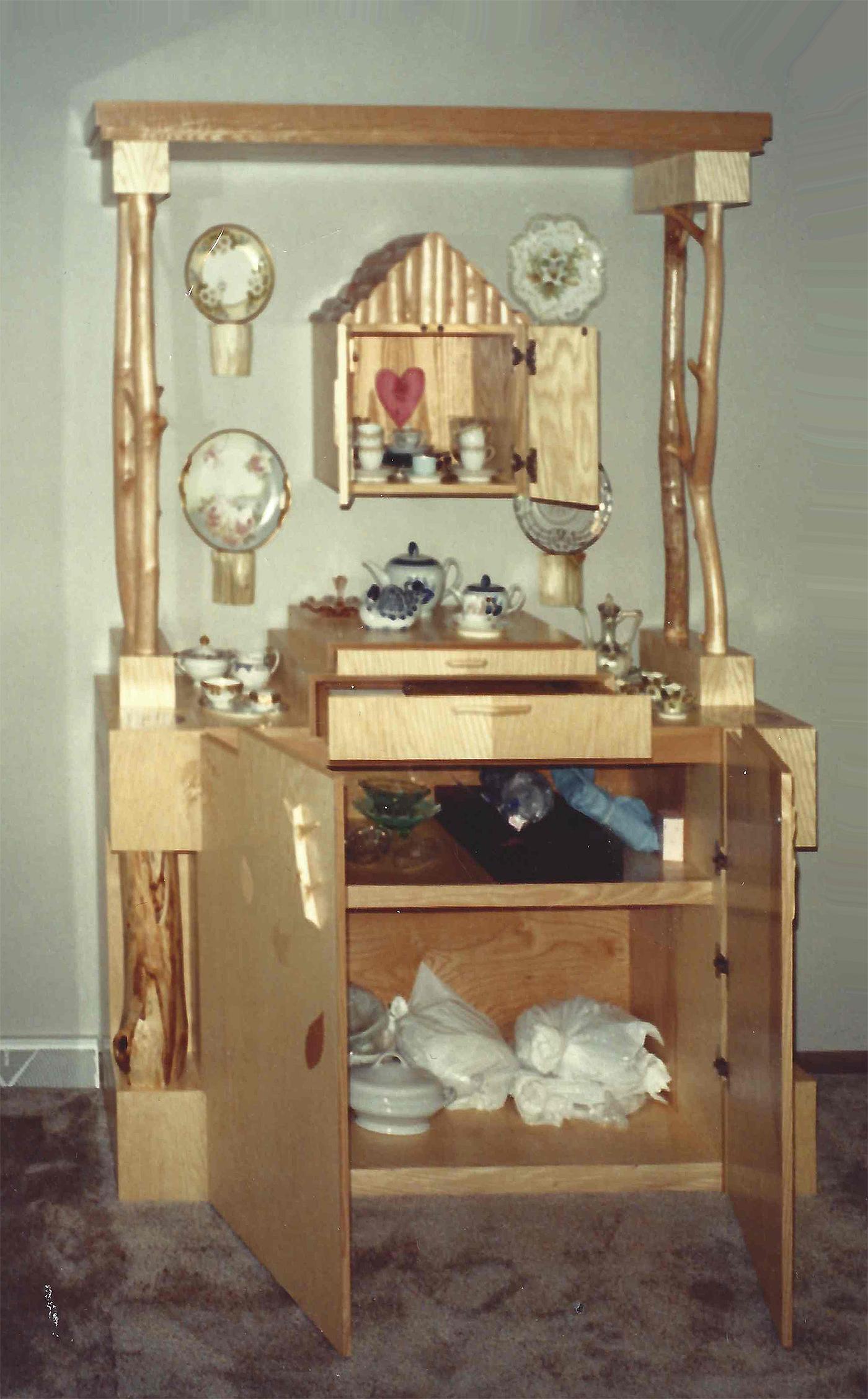 William Eric : Adirondack china cabinet, 1998.