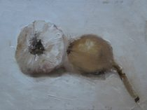 William Eric : Pungent : portrait of a garlic and shallot, 2006.